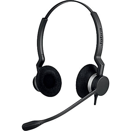 Jabra BIZ 2300 QD Duo Headset - Stereo - Wired - 150 Hz - 4.50 kHz - Over-the-head - Binaural - Supra-aural - 3.53 ft Cable