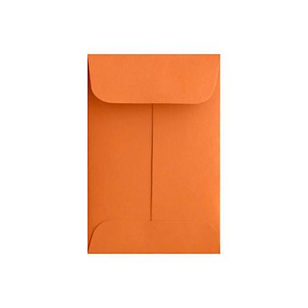 "LUX Coin Envelopes, #1, 2 1/4"" x 3 1/2"", Mandarin, Pack Of 500"