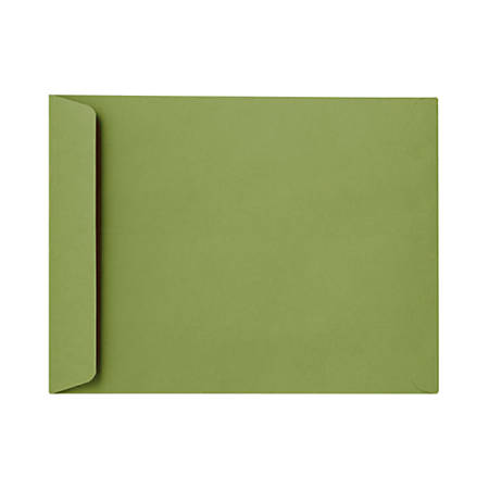 """LUX Open-End Envelopes With Peel & Press Closure, #6 1/2, 6"""" x 9"""", Avocado Green, Pack Of 500"""