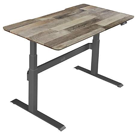 "VARIDESK ProDesk Electric Height-Adjustable Desk, 60""W, Reclaimed Wood"