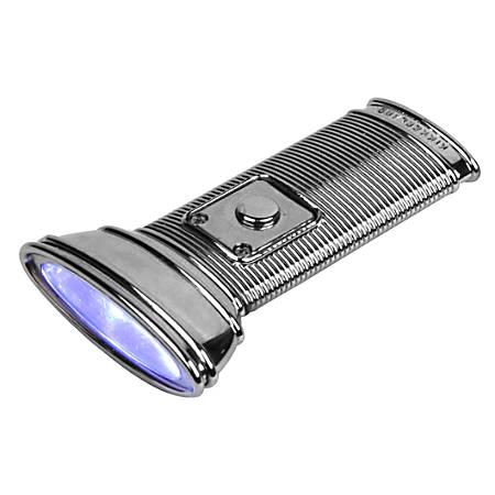 Kikkerland Design Flat Flashlight, Silver