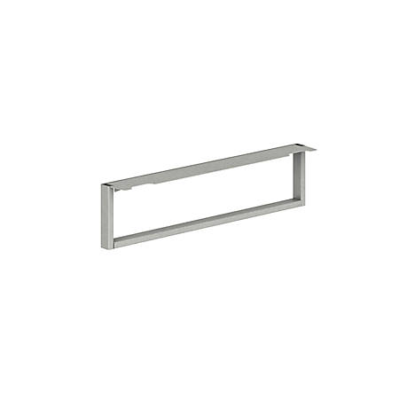 HON® Voi O-Leg Support For Low Credenza And Rectangular Worksurface, Platinum Metallic