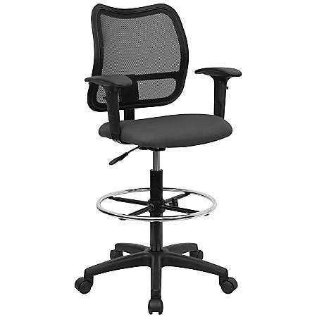 Flash Furniture Mesh Mid-Back Drafting Chair, Gray/Black