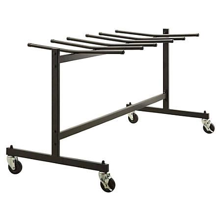 Lorell® Folding Chair Trolley, Black