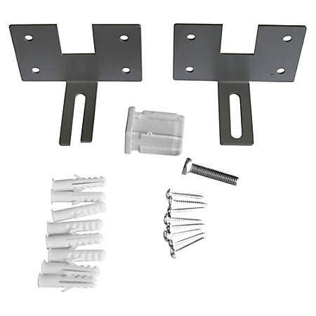 Lorell® Panel System Panel Wall Bracket, 2-pack, Aluminum