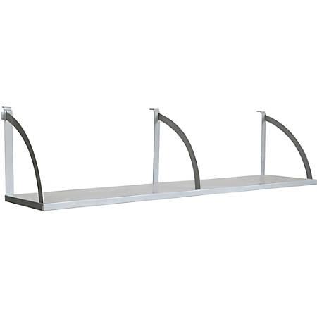 "Lorell® Panel System 60""W Panel Shelf, Aluminum"