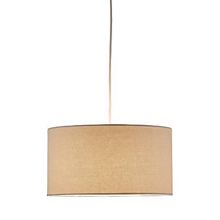 Adesso® Harvest Pendant Ceiling Lamp, Drum, Cream