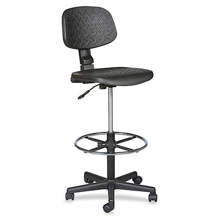 "Balt Trax Adjustable Height Stool, 22""H x 18 1/2""W x 18 1/2""D, Black"