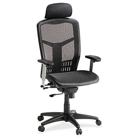 lorell ergonomic mesh high back chair black by office depot officemax