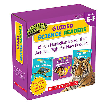 Scholastic Teacher Resources Guided Science Readers Parent Pack, Levels E & F, Pre-K To 1st Grade, Pack Of 16