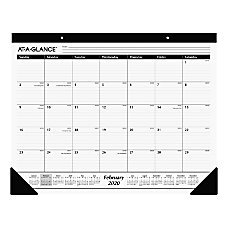 AT A GLANCE Professional Monthly Desk