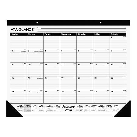 """AT-A-GLANCE® Professional Monthly Desk Pad, 17"""" x 21-3/4"""", January To December 2020, AAGSK2400"""