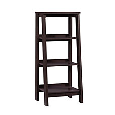 Sauder Trestle Bookcase 3 Shelves Jamocha