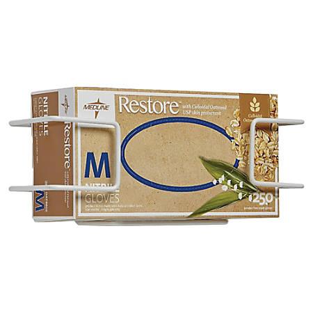 Medline Wire Glove Dispenser Box Holder, Single, White, Pack Of 2