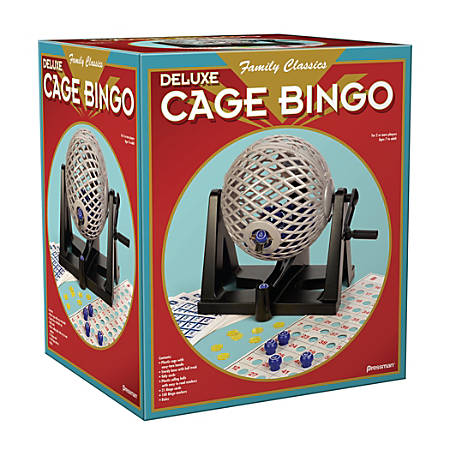 Pressman Toys Cage Bingo Game, Ages 7-18