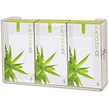 Medline Plexiglass Glove Box Holder - Horizontal, Vertical - Plexiglass - 1 Each - Clear