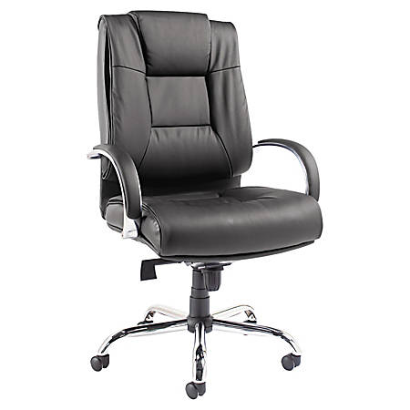 Alera® Ravino VL685 Big & Tall Series High-Back Swivel/Tilt Leather Chair, Black
