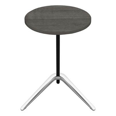 Lorell Guest Area Round Top Accent Table Charcoal Item 7409741
