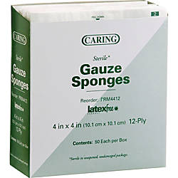 Medline Sterile Gauze Sponges 12 Ply