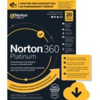Norton 360 Platinum 100 GB 1 User 20 Device 12 Mo Deals