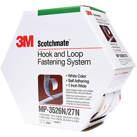 "3M™ Scotchmate™ Fastener Combo Pack, 1"" x 15', White"