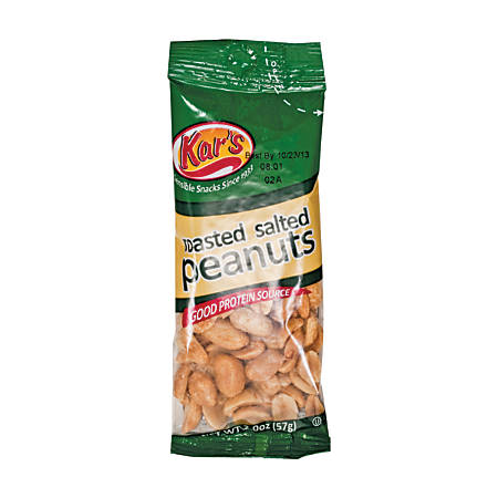 Kar's Salted Peanuts, 2 Oz, Pack Of 24