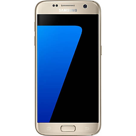 Samsung Galaxy S7 G930V Refurbished Cell Phone, Gold, PSC100193