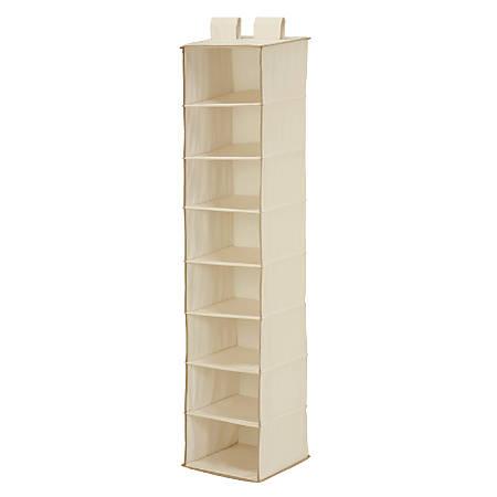 """Honey-Can-Do 8-Shelf Hanging Vertical Closet Organizer, 54""""H x 12""""W x 12""""D, Natural"""