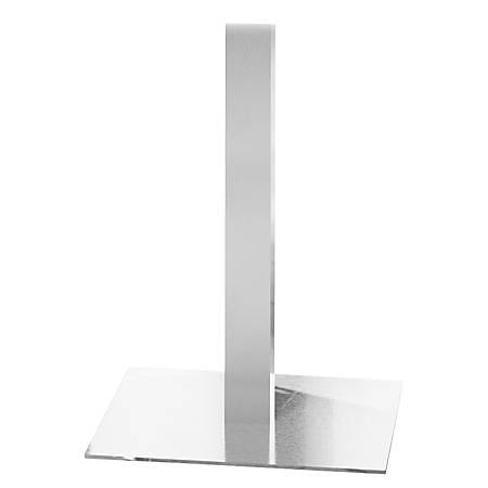 """Mayline Bistro Table Steel Base, 41""""H x 19 3/4""""W, Steel/Silver"""