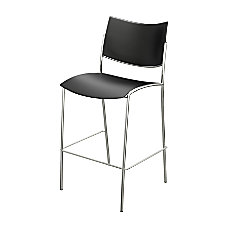 Mayline Escalate Series Stackable Stool BlackSilver