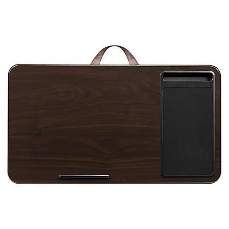 """LapGear Lap Desk With Mouse Pad, 12""""H x 21.1""""W x 2.6""""D, Espresso"""