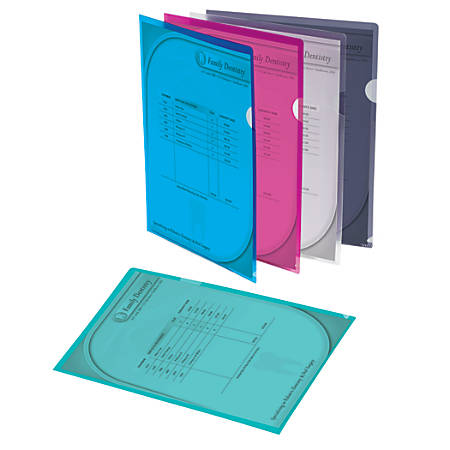 Office Depot® Brand Poly Project View Folders, Letter Size, Assorted Colors, Pack Of 10