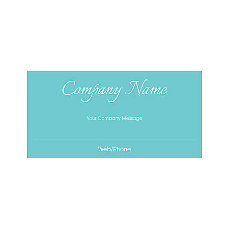 Magnetic Sign, Simple Brilliance Cursive Text, Horizontal