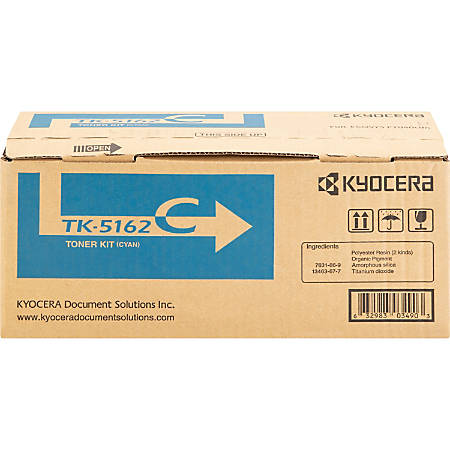 Kyocera TK 5162C - Cyan - original - toner cartridge - for ECOSYS P7040cdn, P7040cdn/KL3