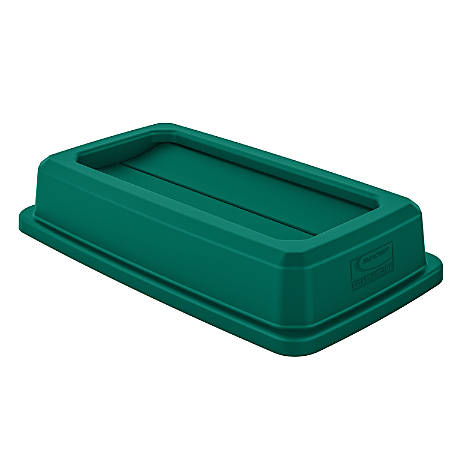 Suncast Commercial Dual-Action Swing-Top Waste Container Lid, 23-Gallon, Green