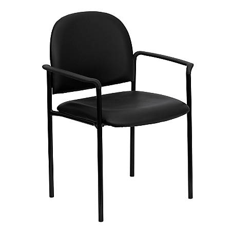 Flash Furniture Vinyl Comfortable Stackable Steel Side Chair With