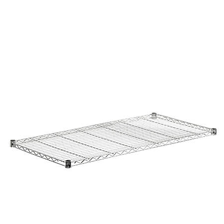 """Honey-Can-Do Plated Steel Shelf, Supports 350 Lb, 1""""H x 18""""W x 48""""D, Chrome"""