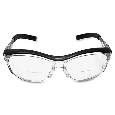 3M Nuvo Protective Reader Eyewear - Adjustable Temple, Lightweight, Anti-fog, UV Resistant, Side Shield, Flexible - Standard Size - Ultraviolet Protection - Polycarbonate Lens - Gray, Clear, Black - 1 Each