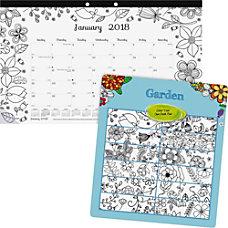 Blueline Garden Design Monthly Desk Pad