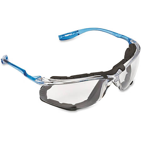 3M Virtua CCS Protective Eyewear - Comfortable, Wraparound Lens, Lightweight, Corded, Anti-fog - Ultraviolet Protection - Polycarbonate Lens, Foam Gasket - Clear, Blue - 1 Each