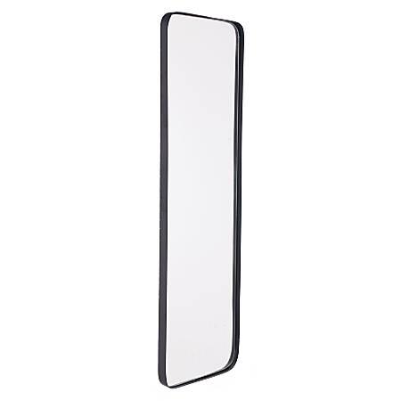 "Zuo Modern Metal Rectangular Mirror, 39 7/16""H x 12""W x 1 1/4 ""D, Black"
