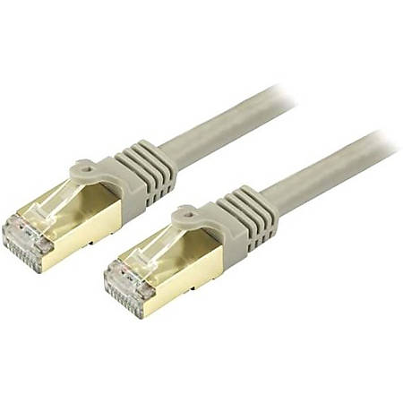 StarTech.com 4ft Gray Cat6a Shielded Patch Cable - Cat6a Ethernet Cable - 4 ft Cat 6a STP Cable - Snagless RJ45 Ethernet Cord