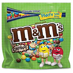 M Ms Crispy Chocolate Candies Milk