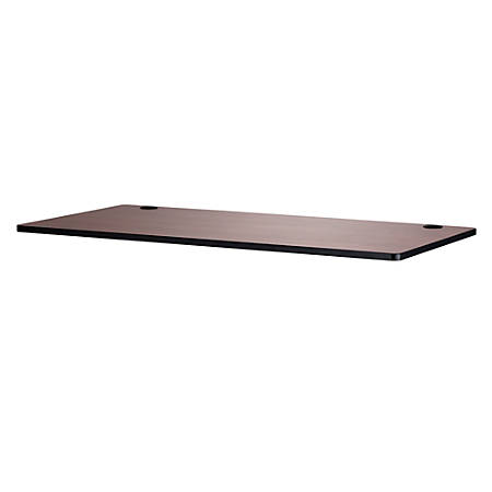 "Safco® Electric 60""W Height-Adjustable Table Top, Rectangular, Cherry"