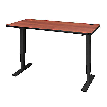 "Safco® Electric 72""W Height-Adjustable Table Top, Rectangular, Cherry"
