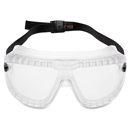 3M Large GoggleGear Safety Goggles - Lightweight, Comfortable, Scratch Resistant, Fog Resistant, Chemical Resistant, Adjustable Headband, Ventilation - Large Size - Clear, Clear - 1 Each