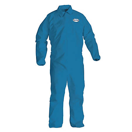 Kimberly-Clark® Professional KLEENGUARD A20 Microforce™ Particle Protection Coveralls, X-Large, Denim Blue, Pack Of 24 Coveralls