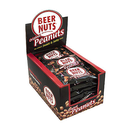 Beer Nuts Original Peanuts, 1.25 Oz, Pack Of 24 Pouches