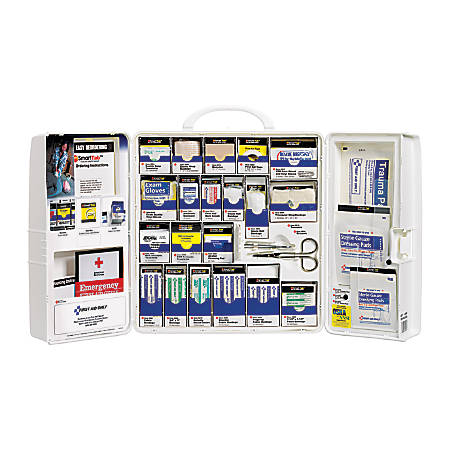 """First Aid Only™ SmartCompliance Large First Aid Cabinet, 14""""H x 4 1/8""""W x 13""""D"""