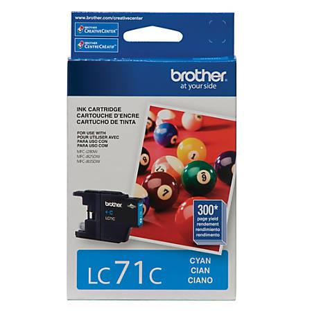 Brother® LC71C Cyan Ink Cartridge